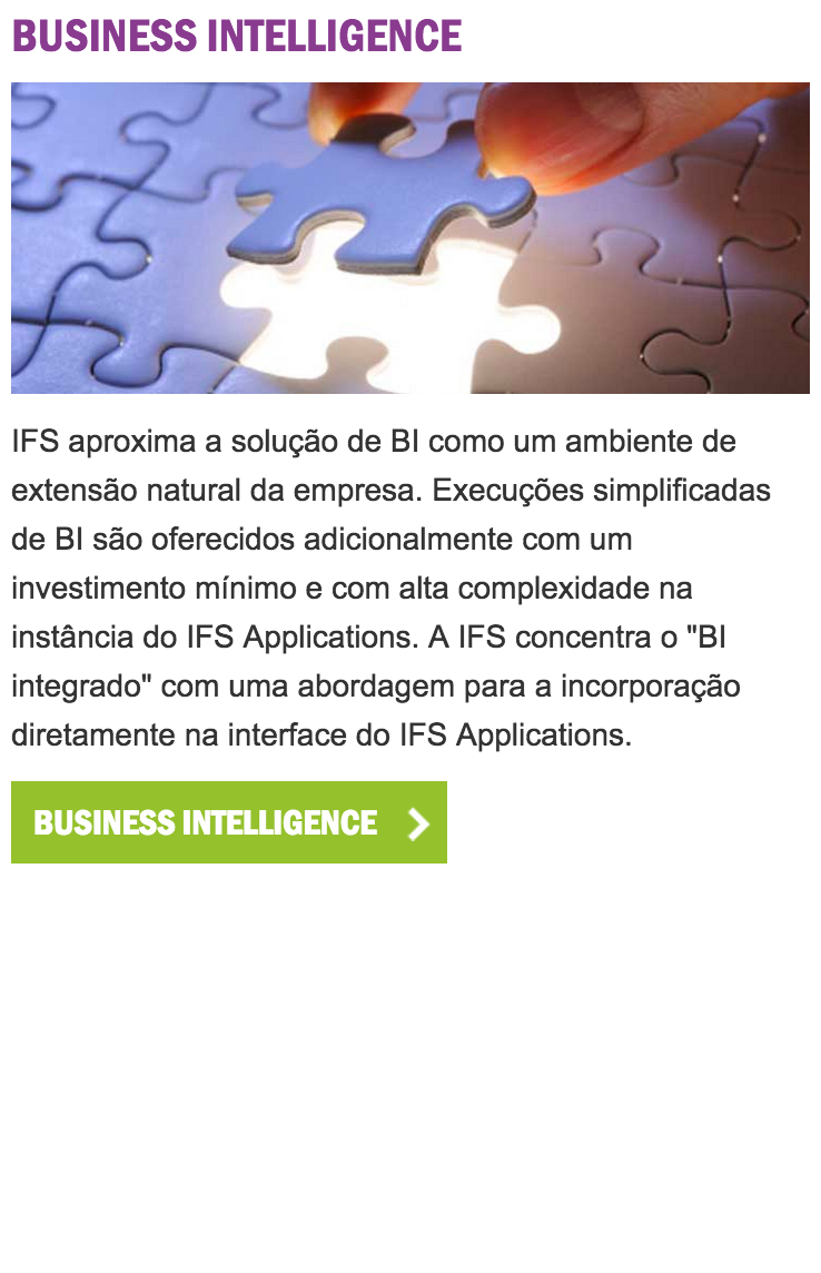 IFS BusinessIntelligence